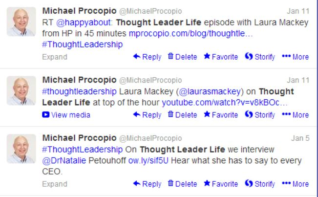 Tweetable Moments Thought Leader Life